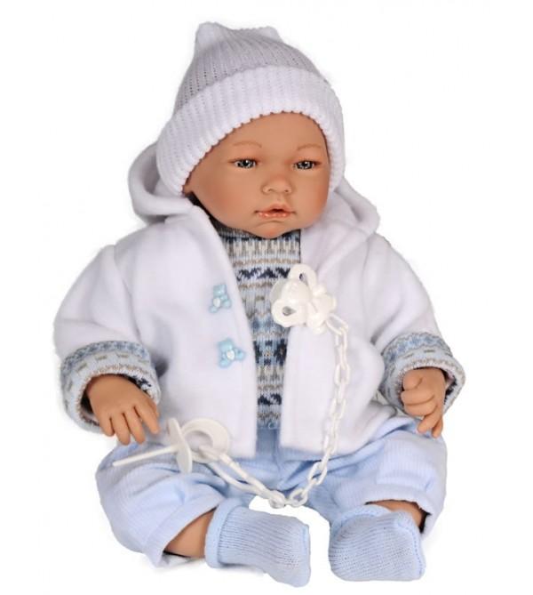 Muñeco Samuel pantalón pana, jeresy  y chaqueta blanca