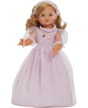 María comunión rosa. Con vela
