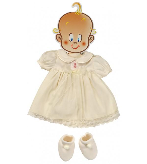 Vestido beig con peucos. 45- 50 cms