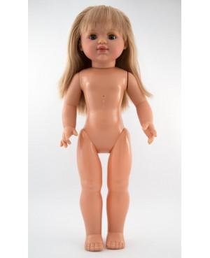 Muñeca María desnuda. 50 cms. Pelo rubio largo liso