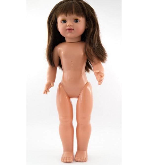 Muñeca María desnuda. 50 cms. Pelo moreno largo, liso