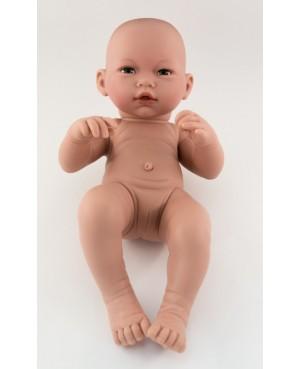 Muñeca Recién nacida desnuda. 36 cms. Sin pelo