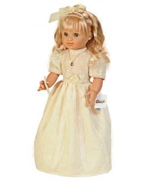 Muñeca María comunión vestido beig. 50 cms