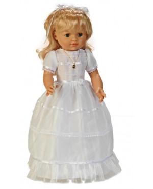 Muñeca María comunión vestido blanco.50 cms