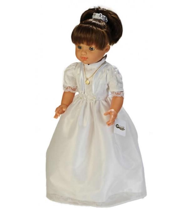 Muñeca María comunión vestido blanco. 50 cms