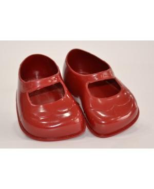 Zapatos granates para muñeca.