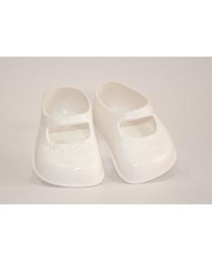 Zapatos blancos para muñeca 45 cms