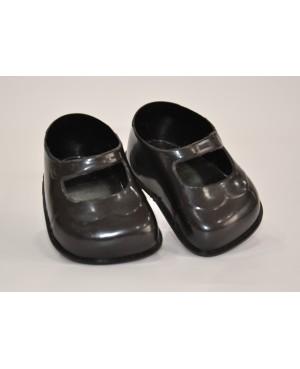 Zapatos negros para muñeca 45 cms