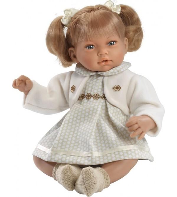 Muñeca Alba, vestido y chaqueta beig