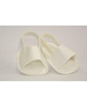 Sandalias blancas para muñeca
