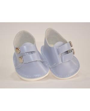 Botas azules con 2 clecks para muñeca