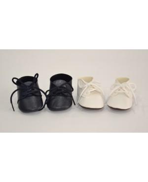 Lote 2 pares de botas con cordones para muñeca