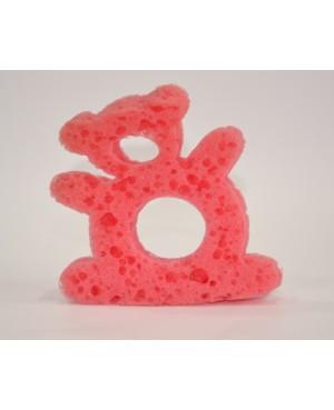 Esponja rosa con forma de osito para muñeca