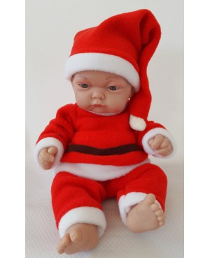 Muñeco Papá Noel. Traje rojo. 36 cms
