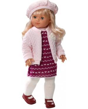 Muñeca María, vestido,chaqueta y boina de lana