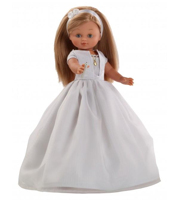 Muñeca Nany Comunión vestido blanco. 40 cms. Muñeca con mecanismo y vela.