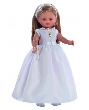 Muñeca Nany comunión vestido blanco. 40 cms. Muñeca comunión con mecanismo y vela.